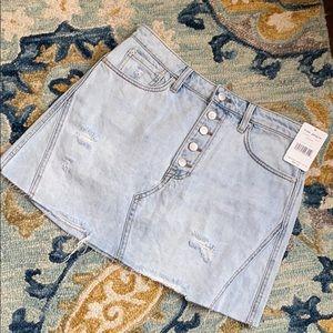Free People Boho Denim A-line Skirt Sz.30 NWT